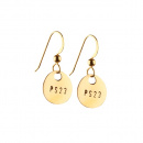 PS23 GOLD & BRONZE COIN EARRINGS