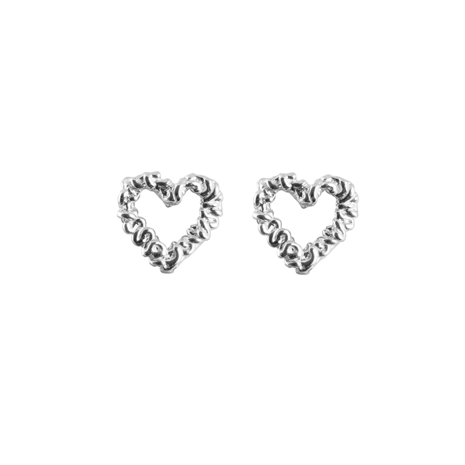 Silver Heart Earrings i gruppen ÖRHÄNGEN hos EMMA ISRAELSSON (ear036)