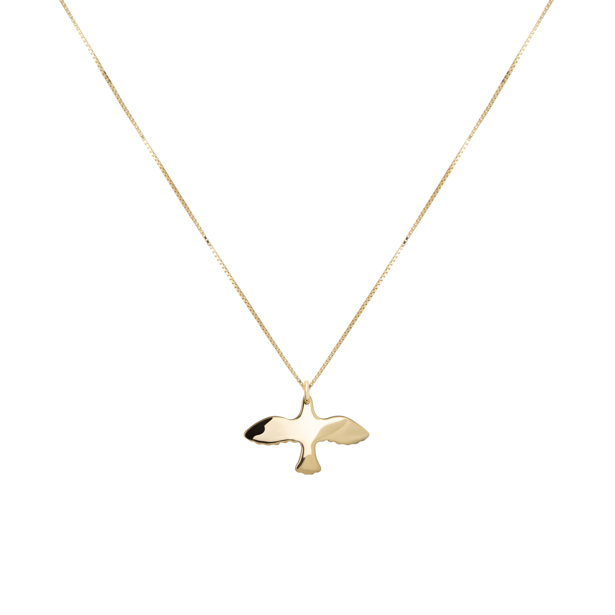 18K Gold Dove Necklace i gruppen SHOP / HALSBAND hos EMMA ISRAELSSON (neck044)