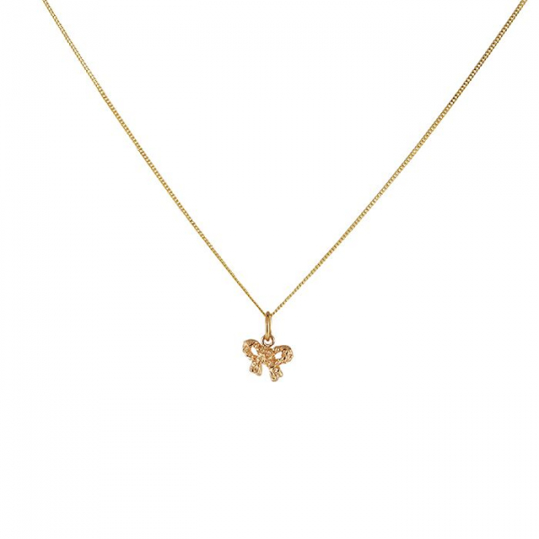 18K BOW NECKLACE i gruppen SHOP hos EMMA ISRAELSSON (neck049-1)
