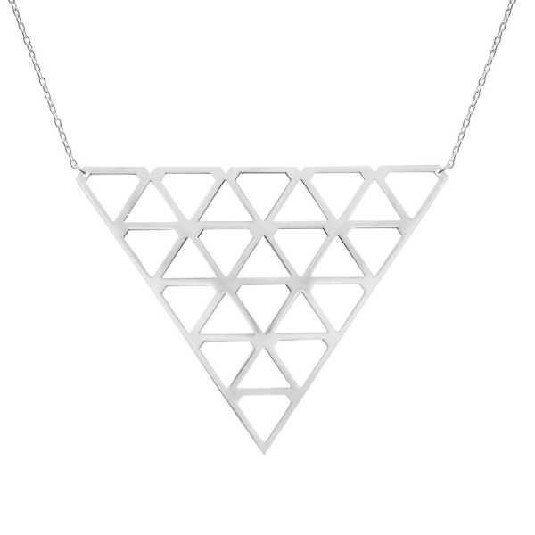 Super Diamond Necklace L Silver i gruppen SHOP hos EMMA ISRAELSSON (neck076)