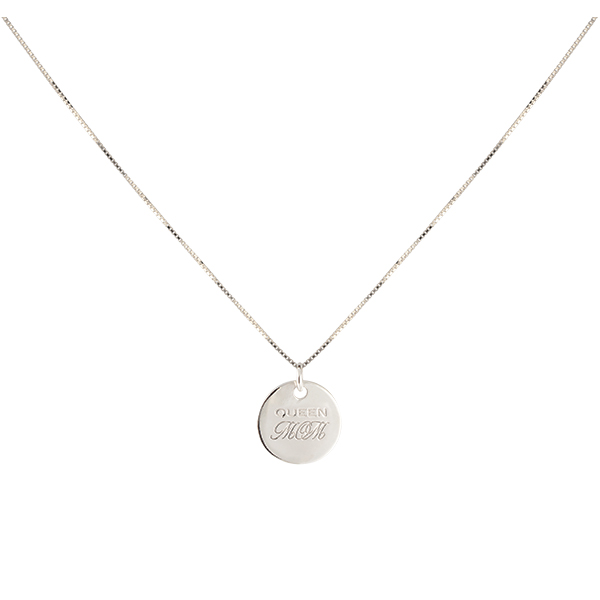 QUEEN MOM NECKLACE SILVER i gruppen HALSBAND hos EMMA ISRAELSSON (neck097)