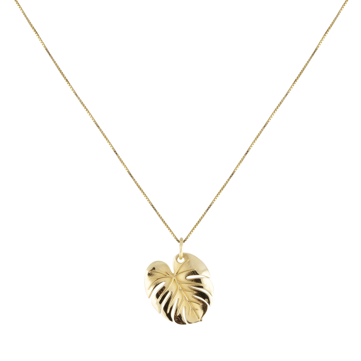PALM LEAF NECKLACE GOLD i gruppen HALSBAND hos EMMA ISRAELSSON (neck102)