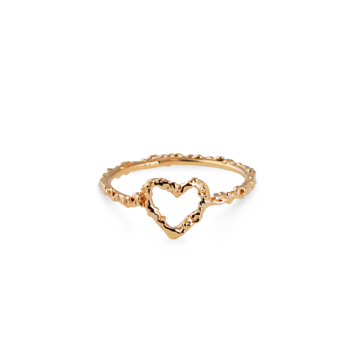 18K Heart Ring i gruppen SHOP / RINGAR hos EMMA ISRAELSSON (ring026)