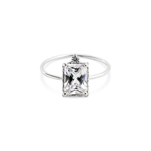 Lady Sparkle Ring Silver i gruppen SHOP hos EMMA ISRAELSSON (ring053)