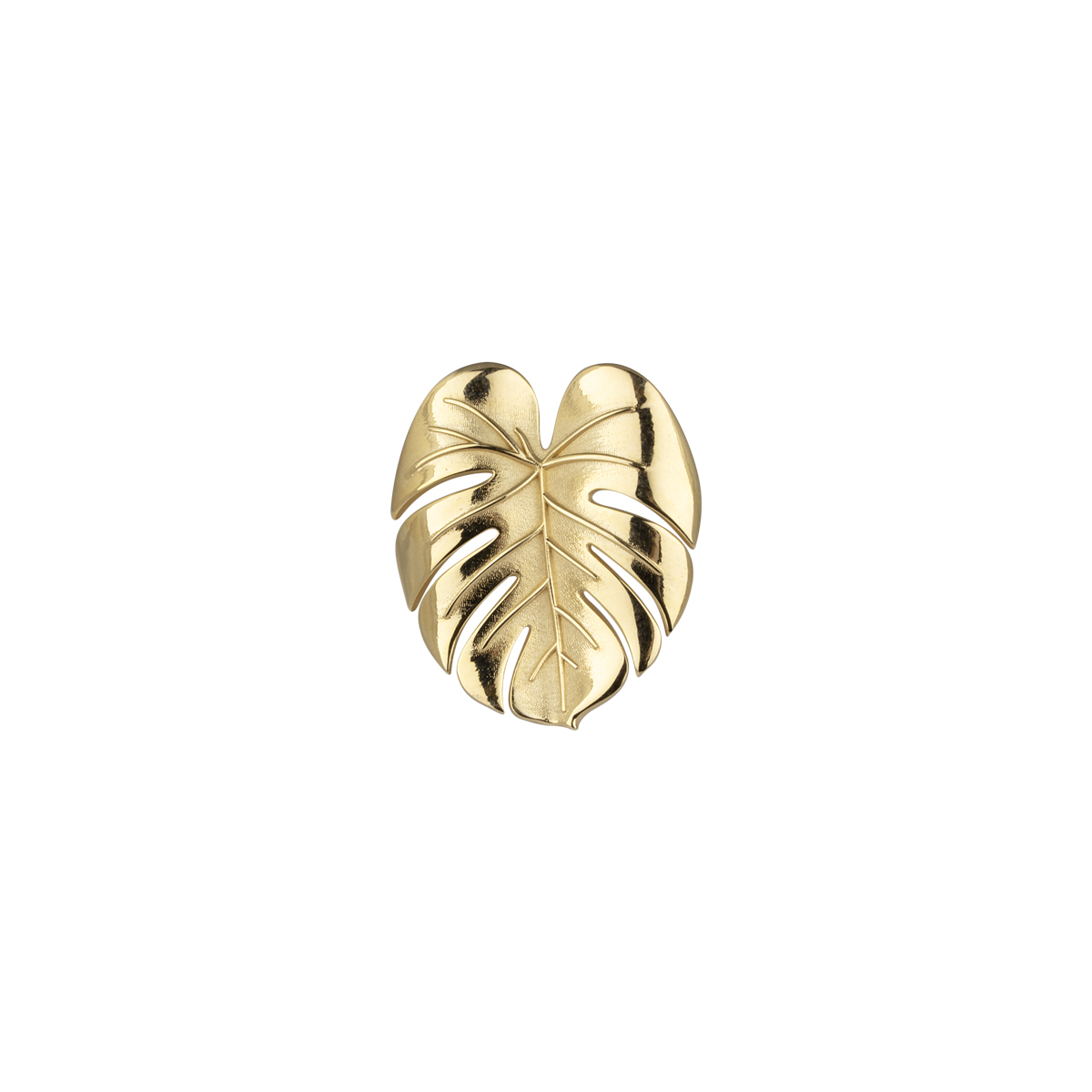 Palm Leaf Ring Gold i gruppen RINGAR hos EMMA ISRAELSSON (ring093)